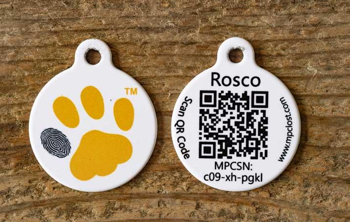 QR Pet ID tag
